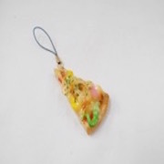 Pizza Slice (small) Cell Phone Charm/Zipper Pull - Fake Food Japan