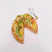 Pizza (three quarter-size) Cell Phone Charm/Zipper Pull - Fake Food Japan