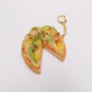 Pizza (three quarter-size) Keychain - Fake Food Japan