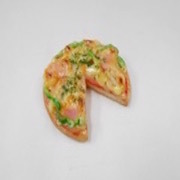Pizza (three quarter-size) Magnet - Fake Food Japan