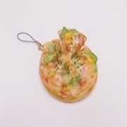 Pizza (Whole with Floating Slice) Cell Phone Charm/Zipper Pull - Fake Food Japan