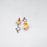 Popcorn Clip-On Earrings - Fake Food Japan