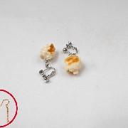 Popcorn Pierced Earrings - Fake Food Japan