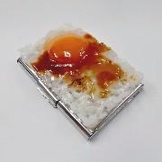 Raw Egg & Rice Business Card Case - Fake Food Japan