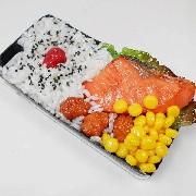 Salmon & Kara-age (Boneless Fried Chicken) Bento iPhone 8 Plus Case - Fake Food Japan