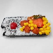 Salmon & Kara-age (Boneless Fried Chicken) Bento (new) iPhone 8 Plus Case - Fake Food Japan