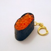 Salmon Roe Battleship Roll Sushi Keychain - Fake Food Japan