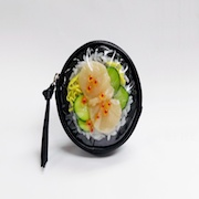Salmon Roe & Scallop Rice Circular Purse - Fake Food Japan