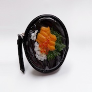 Salmon Roe & Sea Urchin Rice Circular Purse - Fake Food Japan