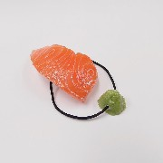 Salmon Sushi & Wasabi Hair Band (Pair Set) - Fake Food Japan