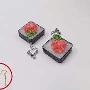 Scallion & Tuna Roll Sushi Pierced Earrings - Fake Food Japan