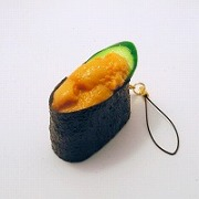 Sea Urchin Battleship Roll Sushi Cell Phone Charm/Zipper Pull - Fake Food Japan