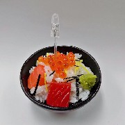 Seafood Rice Bowl Small Size Replica - Fake Food Japan