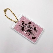Sekihan (Red Bean Rice) Pass Case with Charm Bracelet - Fake Food Japan