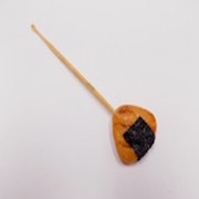 Senbei (Japanese Cracker) with Seaweed (small) Ear Pick - Fake Food Japan