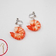 Shrimp (mini) Pierced Earrings - Fake Food Japan