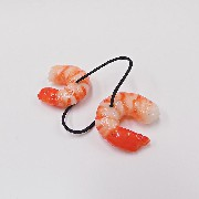 Shrimp (small) Hair Band (Pair Set) - Fake Food Japan
