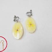 Sliced Banana Pierced Earrings - Fake Food Japan