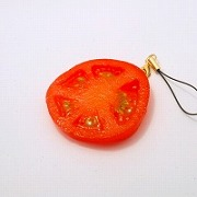 Sliced Tomato Cell Phone Charm/Zipper Pull - Fake Food Japan