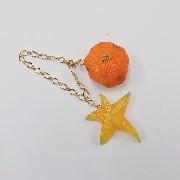 Spoiled Orange & Star Fruit (small) Bag Charm - Fake Food Japan