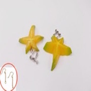 Star-Shaped Fruit (small) Pierced Earrings - Fake Food Japan