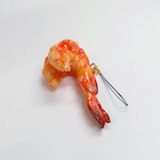 Stir-Fried Shrimp with Chili Sauce Cell Phone Charm/Zipper Pull - Fake Food Japan