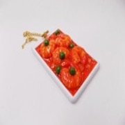 Stir-Fried Shrimp with Chili Sauce Pass Case with Charm Bracelet - Fake Food Japan