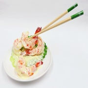 Stir-Fried Shrimp with Mayonnaise & Chopsticks Smartphone Stand - Fake Food Japan