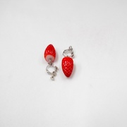 Strawberry Clip-On Earrings - Fake Food Japan