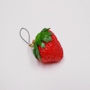 Strawberry with Stem Cell Phone Charm/Zipper Pull - Fake Food Japan