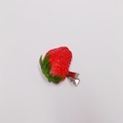 Strawberry with Stem (half-size) Hair Clip - Fake Food Japan