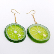 Sudachi (small) Pierced Earrings - Fake Food Japan