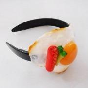 Sunny-Side Up Egg & Sausage Headband - Fake Food Japan