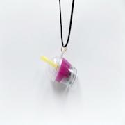 Sweet Potato Tapioca Drink (mini) Necklace - Fake Food Japan