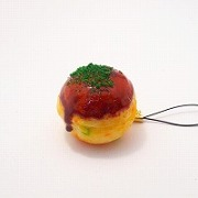 Takoyaki (Fried Octopus Ball) Cell Phone Charm/Zipper Pull - Fake Food Japan