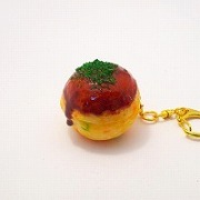 Takoyaki (Fried Octopus Ball) Keychain - Fake Food Japan