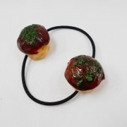 Takoyaki (Fried Octopus Ball) (small) Hair Band (Pair Set) - Fake Food Japan