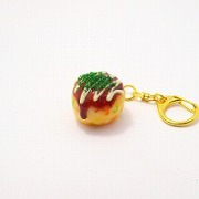 Takoyaki (Fried Octopus Ball) with Mayonnaise (small) Keychain - Fake Food Japan