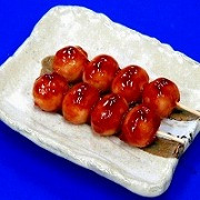 Toasted Dumplings Covered in a Soy & Sugar Sauce Replica - Fake Food Japan