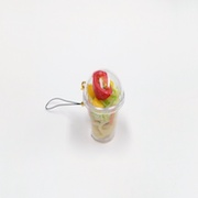 Tossed Salad with Pasta (mini) Cell Phone Charm/Zipper Pull - Fake Food Japan