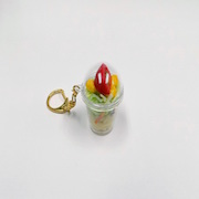 Tossed Salad with Pasta (mini) Keychain - Fake Food Japan