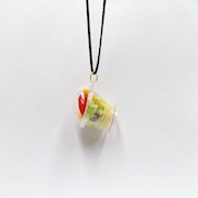 Tossed Salad with Pasta (mini) Necklace - Fake Food Japan