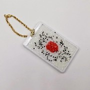 Umeboshi (Pickled Plum) Rice Pass Case with Charm Bracelet - Fake Food Japan