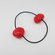 Umeboshi (Pickled Plum) (small) Hair Band (Pair Set) - Fake Food Japan