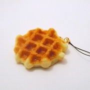 Waffle Cell Phone Charm/Zipper Pull - Fake Food Japan