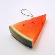 Watermelon Cell Phone Charm/Zipper Pull - Fake Food Japan