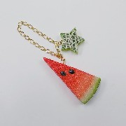 Watermelon (small) Ver. 2 & Melon (Star-Shaped) (small) Bag Charm - Fake Food Japan