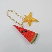 Watermelon (small) Ver. 2 & Star Fruit (small) Bag Charm - Fake Food Japan