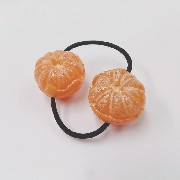 Whole Orange (small) Hair Band (Pair Set) - Fake Food Japan