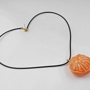 Whole Orange (small) Necklace - Fake Food Japan